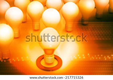 Bright idea or leadership concept  - stock photo