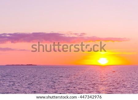 Bright Illumination Magnificent View  - stock photo