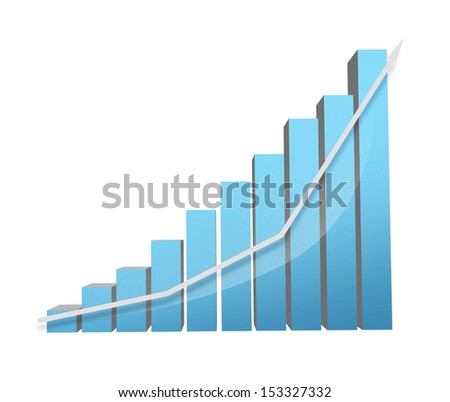 bright illustration of big colorful 3d chart - stock photo