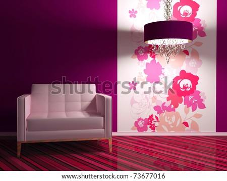 Bright Interior Design Modern Living Room Stock Illustration ...