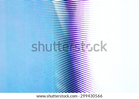 Bright lighted blue LED smd screen background - stock photo
