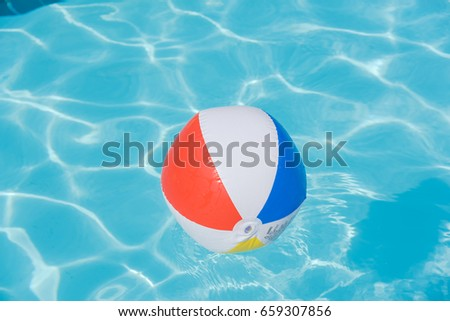 Pool Water With Beach Ball swimming pool beach ball stock photo 17028142 - shutterstock
