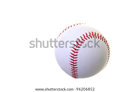 Bright new baseball isolated on white with room for text