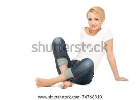bright picture of calm attractive teenage girl