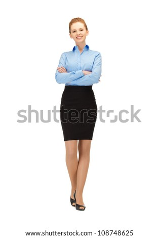 bright picture of happy and smiling stewardess