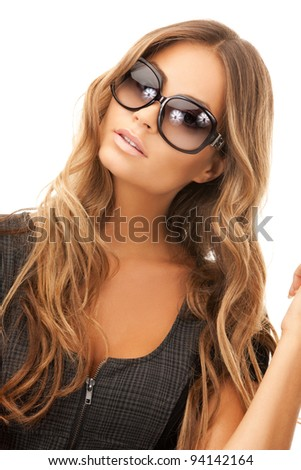 bright picture of lovely woman in shades