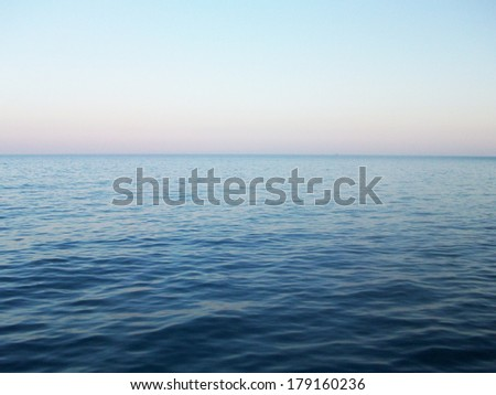 Bright picture of sea waves and sky - stock photo