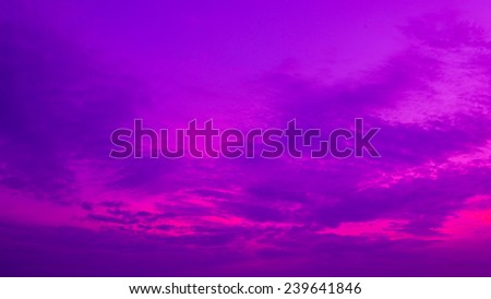 Bright pink and purple colors sunset sky - stock photo