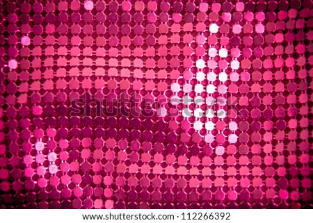 Bright pink paillette texture background. - stock photo