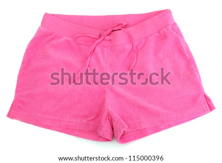 bright pink shorts, isolated on white