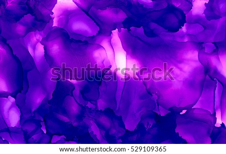 Bright Purple Paint Uneven Texture.Colorful Background Hand Drawn With  Bright Inks And Watercolor Paints