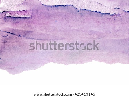 bright purple watercolor stains - stock photo