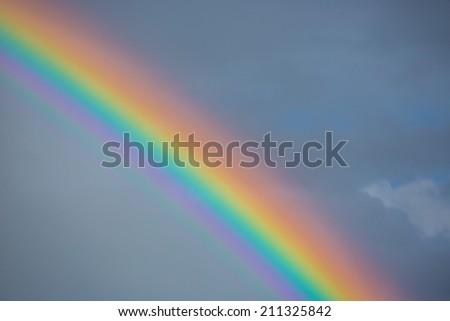 bright rainbow - stock photo