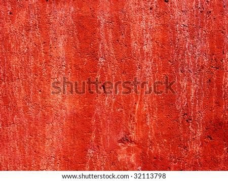 bright red vintage wall