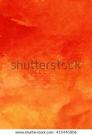 Bright red watercolor background, formal composition, abstract image, aggressive environment - stock photo