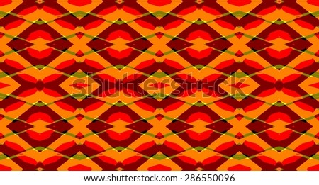 Bright rhombus ornament geometric abstract background pattern.