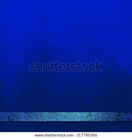 bright sapphire blue background with a thin teal blue stripe or ribbon, elegant formal background with copyspace - stock photo