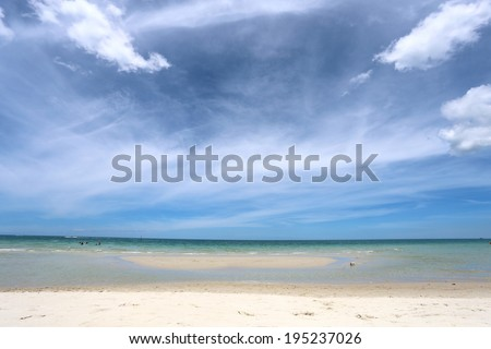 bright seascape beach on a sunny afternoon