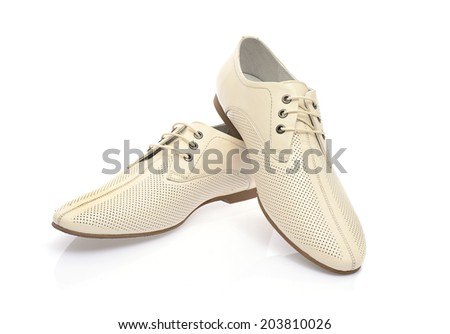 Bright shoes for men. Isolated on White Background.