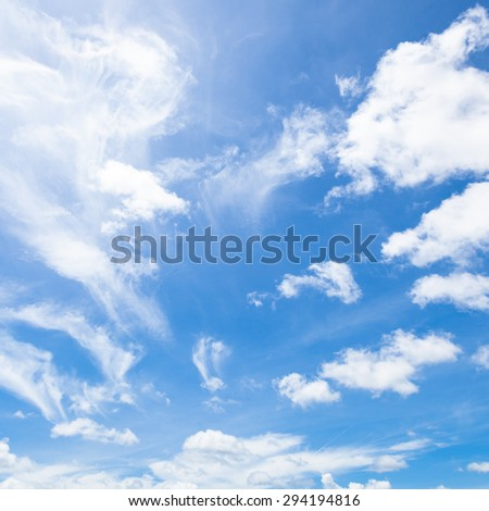 Bright sky. The sky was overcast during the day to clear. - stock photo
