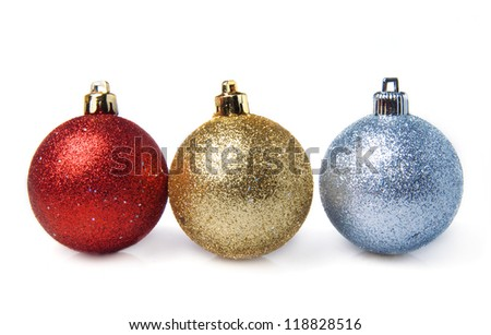 bright sparkling Christmas balls - Christmas decoration - stock photo