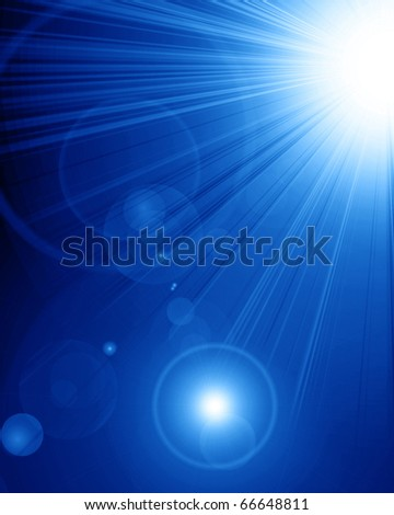 Bright sparkling star on a blue background