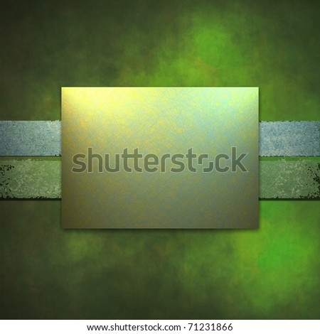 bright spring green background with blue and yellow accent colors, dark grunge texture, soft lighting, and copy space square layout for adding text or title to your cover, great for St. Patrick's day - stock photo