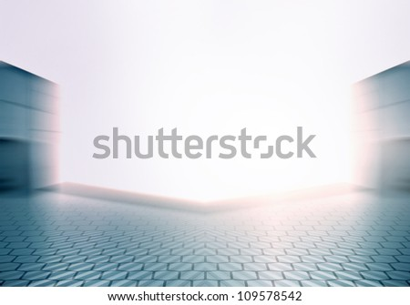 Bright Stage - stock photo
