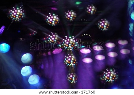 Bright stage lights - stock photo