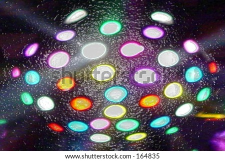 Bright stage lights melting - stock photo