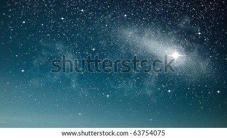 Bright star in space abstract of nature - stock photo