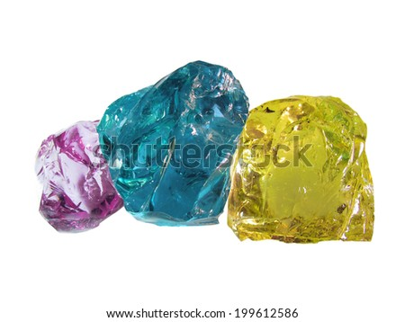 Bright stones glass in cmyk color - stock photo