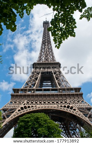 Bright summer day in Paris