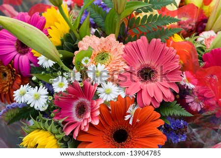 Bright Summer Flower Bouquet - stock photo