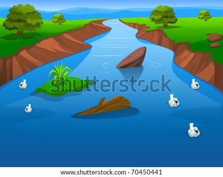 Bright Summer Lake - stock photo
