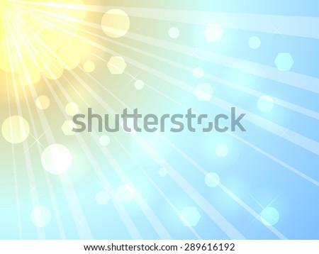 Bright summer sunshine background.  - stock photo