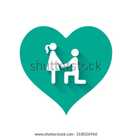 Bright turquoise heart shape icons of love relationships