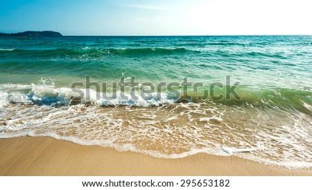 Bright water with beautiful beach at Koh Kood island ,Thailand - stock photo