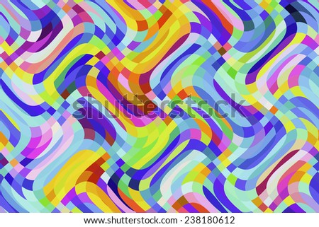 Bright wavy abstract with carnival colors - stock photo