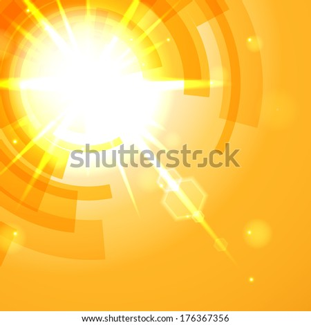 Bright yellow abstract background. - stock photo