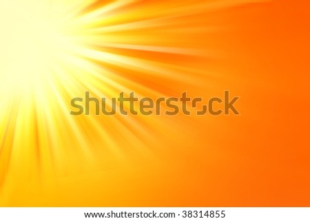 Bright yellow and orange tone background. Copy space