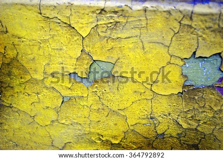 bright yellow cracked wall texture