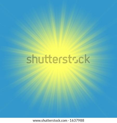 Bright yellow sun - stock photo