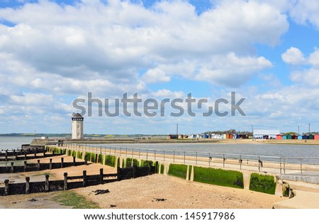 Brightlingsea Promenade - stock photo