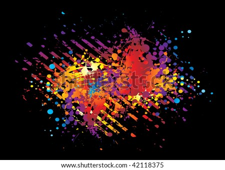 Brightly colored rainbow abstract background with grunge effect