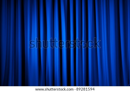 Brightly lit curtains for your background - stock photo