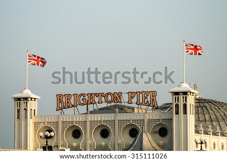 BRIGHTON - AUGUST 2015: Brighton Pier in Brighton, on August 2015.