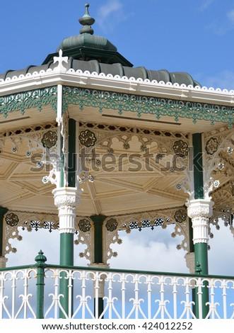 Brighton Bandstand Detail - stock photo