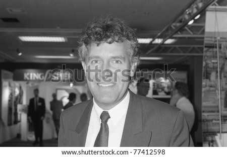 BRIGHTON, ENGLAND - OCTOBER 1: Peter Hain, Labour party Member of Parliament for Neath, visits the party conference on October 1, 1991 in Brighton, Sussex. - stock photo