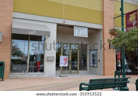 BRIGHTON, MI - AUGUST 22: J. Jill, whose Brighton, MI store is shown August 22, 2015, has over 250 stores.  - stock photo